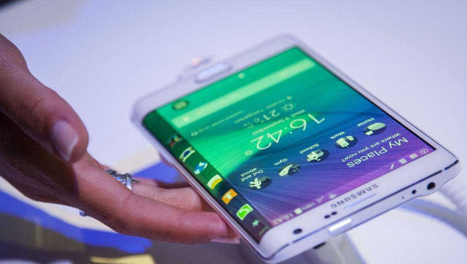 Galaxy edge: Noch ist Samsung Marktführer im Geschäft mit Smartphones. Doch der Abschwung geht schneller als erwartet