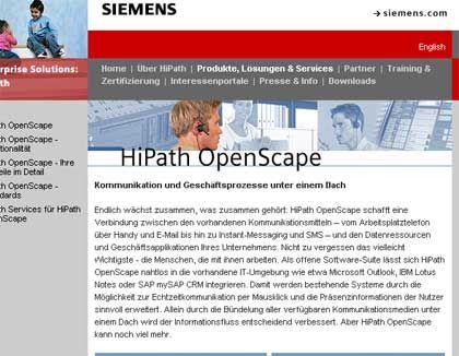 """Videotelefonie via IP: Die Desktoplösung """"Hipath Openscape 2.0"""" von Siemens"""