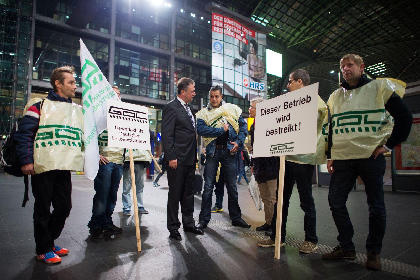 Lokführer-Streik bei der Bahn - Berlin