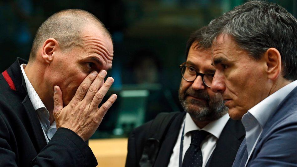Varoufakis in Brüssel: Die europäischen Geldgeber ließen sich auf Verhandlungen ein und bald hatte jeder vergessen, dass Griechenland Vereinbarungen schlicht verletzt hatte.