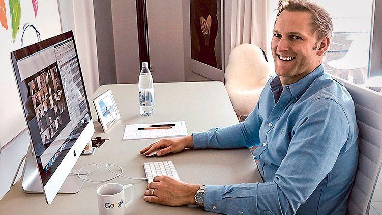 Wohnzimmerinvestor: Christian Meermann, Partner bei Cherry Ventures, im Homeoffice