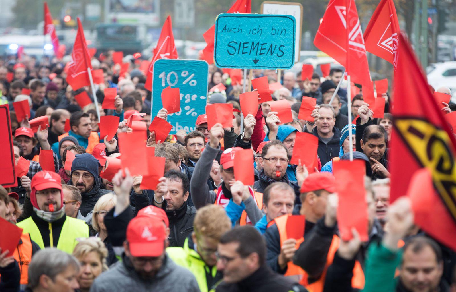 Proteste gegen Siemens Görlitz
