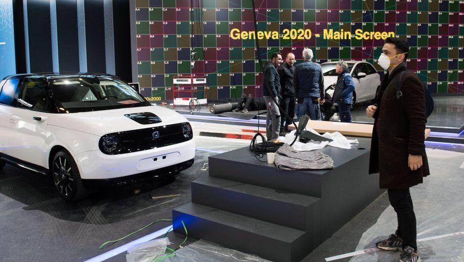 Momentaufnahme vom abgesagten Autosalon in Genf 2020: Das Top-Branchenevent wird auch im kommenden Jahr nicht stattfinden.