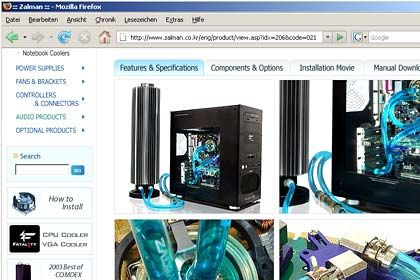 Zalman-Kühlturm: Eine elegante, aber Platz raubende und teure Lösung, den PC weitgehend verstummen zu lassen
