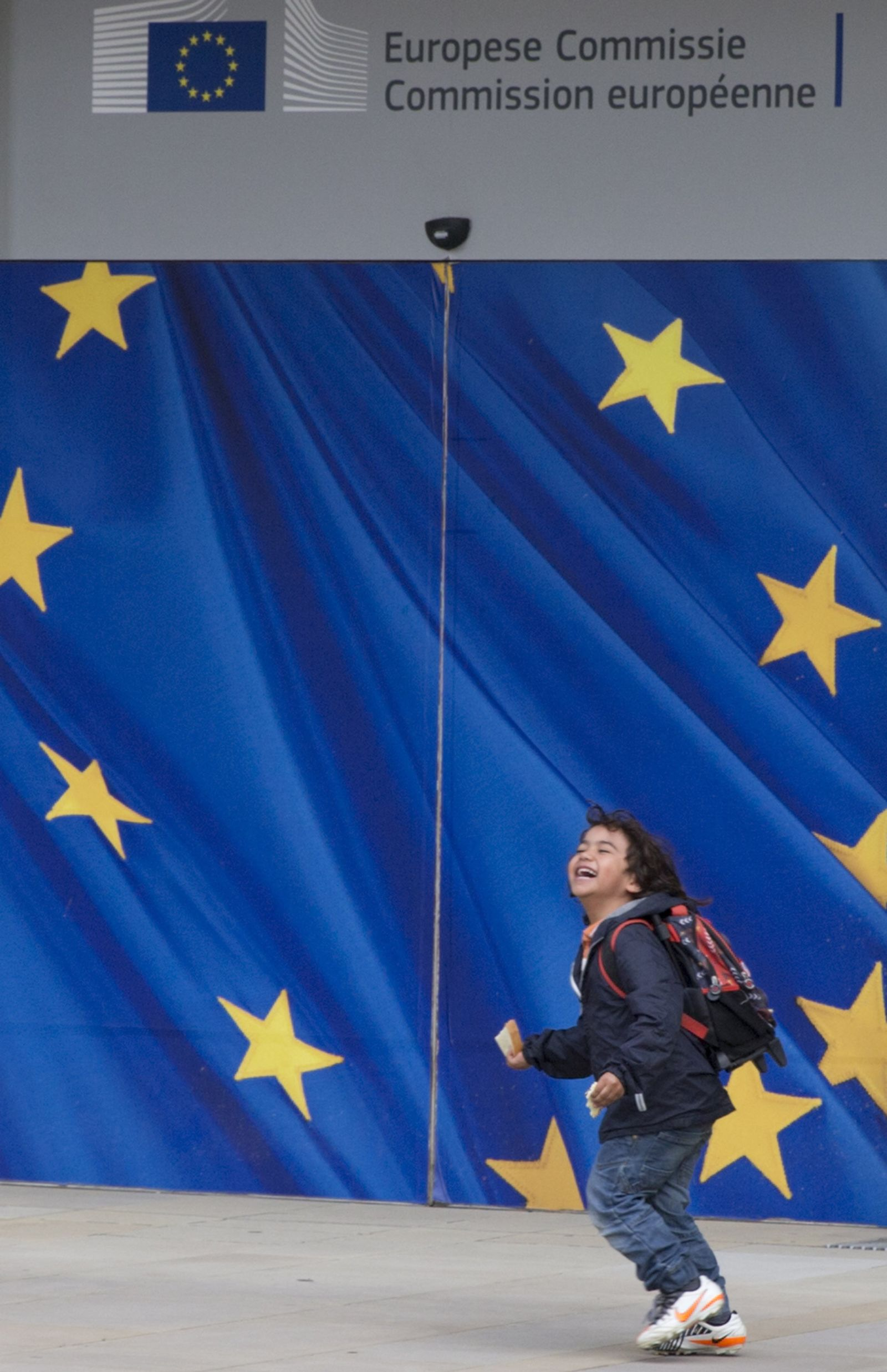 EU Europa Flagge Kind