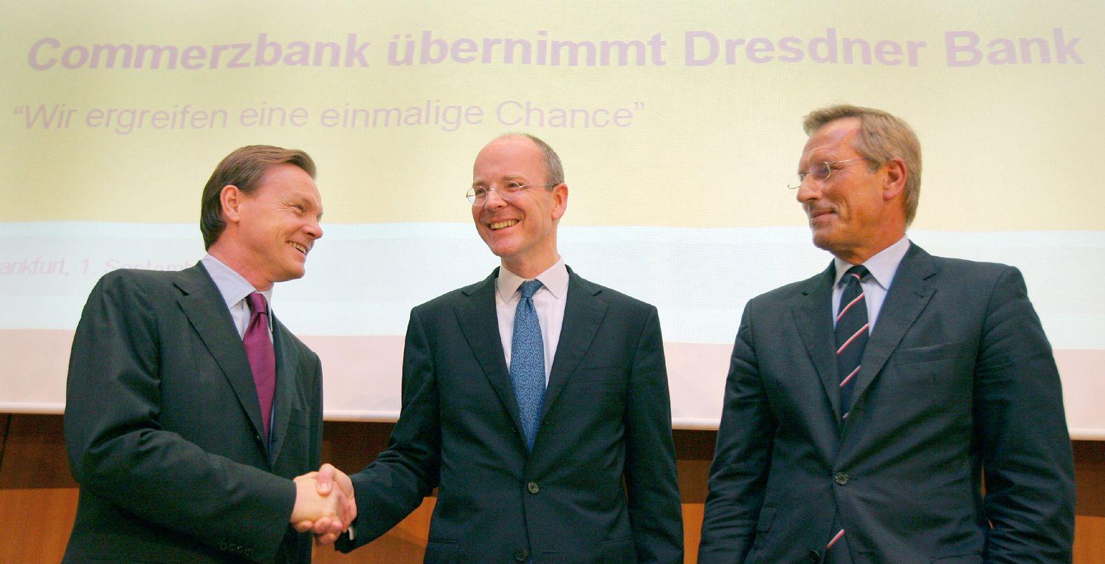 Commerzbank übernimmt Dresdner Bank - Walter, Blessing und Diekmann