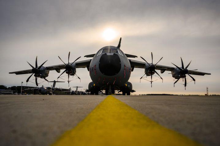 """Sorgenflieger: Den A400M zu exportieren werde """"immer schwieriger"""", so Airbus heute."""