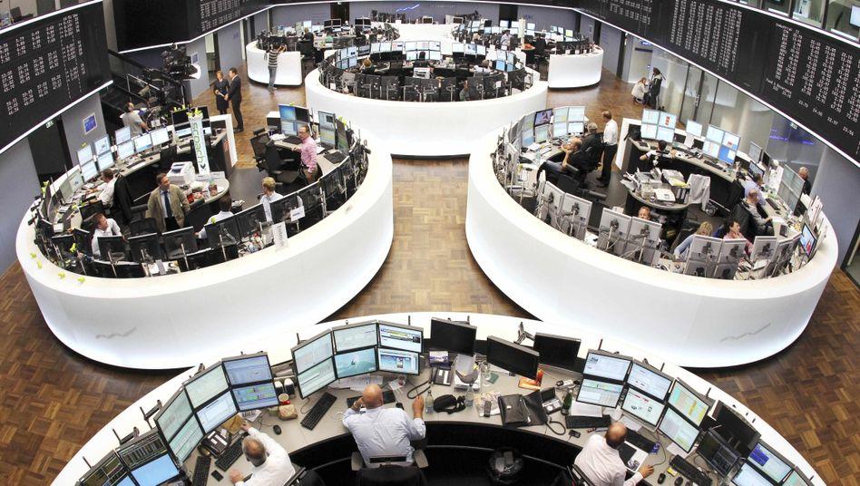 Börse in Frankfurt: Dax-Anleger haben am Dienstag Gewinne mitgenommen