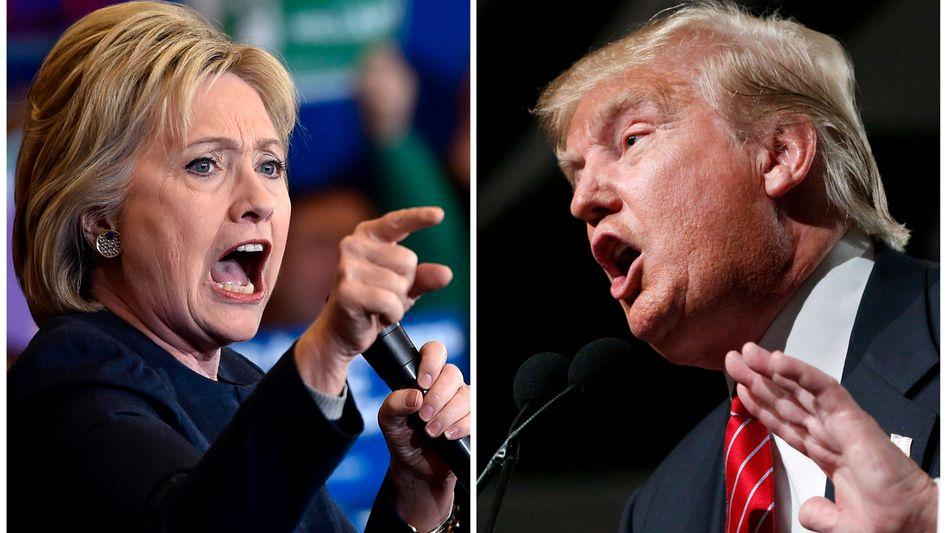 Kontrahenten um die US-Präsidentschaft: Aus Sicht der Börse erhielte Hillary Clinton den Vorzug vor Donald Trump