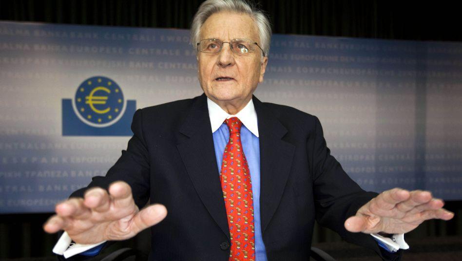 Zielkonflikt: Die EZB und ihr Chef Jean-Claude Trichet wollen die Inflation bekämpfen, den schwachen Euro-Ländern aber nicht weh tun