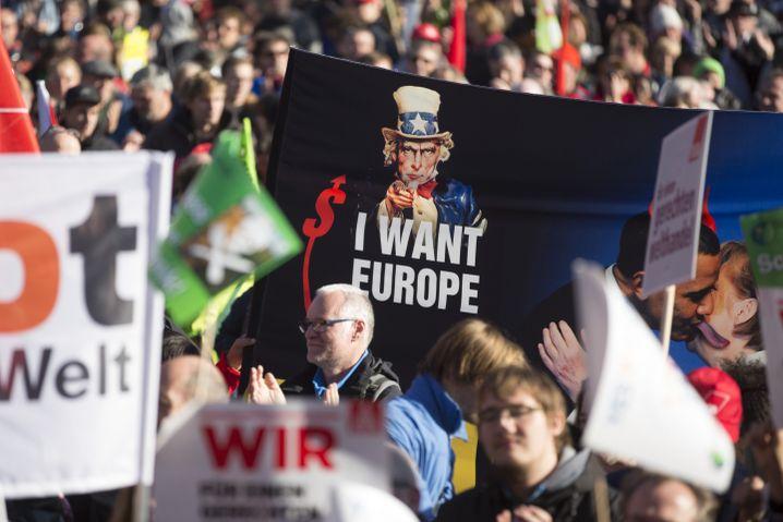 TTIP-Protest in Berlin: BMW marschiert hier sicher nicht mit