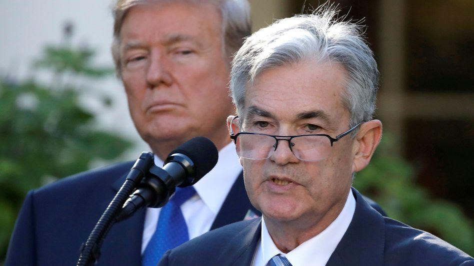 Fed-Chef Jerome Powell, US-Präsident Donald Trump: Die US-Notenbank ist vorsichtiger, weitere Zinserhöhungen sind unwahrscheinlicher geworden