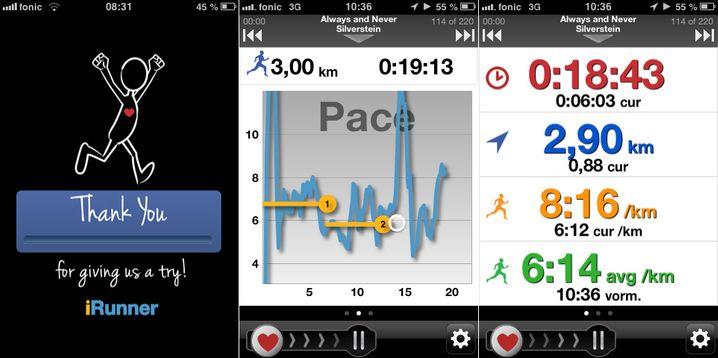 iRunner: Die App bietet visualisierte Auswertung für lau