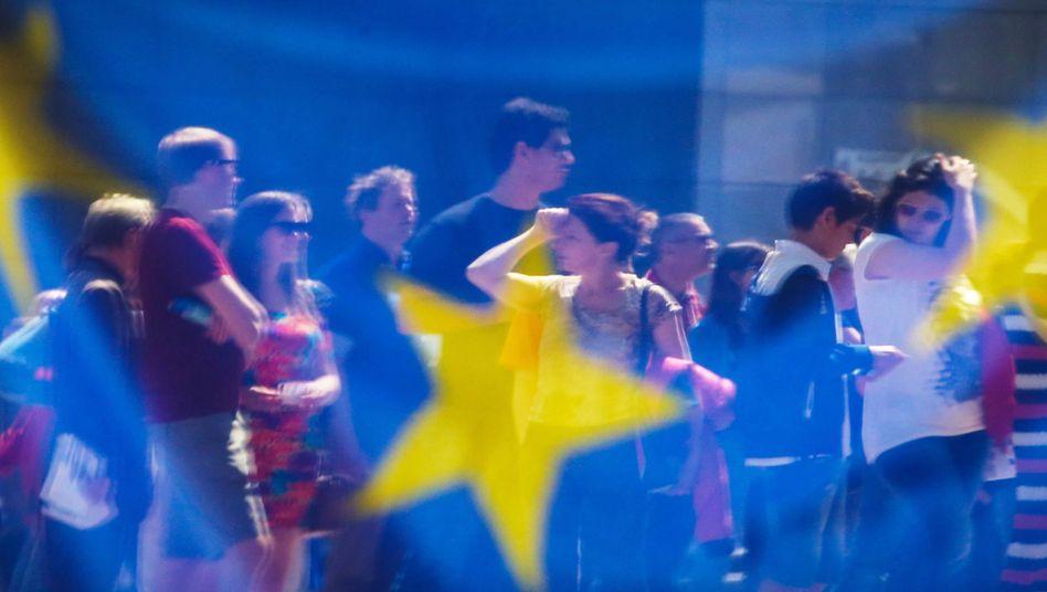 Im Zeichen Europas: Wenn's um Geld geht, herrscht in der EU oft Uneinigkeit