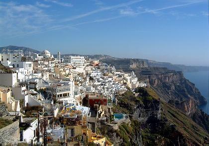 Hauptstadt Thira: Überleben war auf Santorin immer eine große Herausforderung