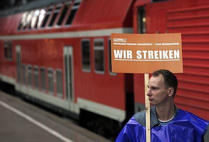 """Aus Sicht von Bahnchef Mehdorn """"unbotmäßig"""": Lokführer im Ausstand"""