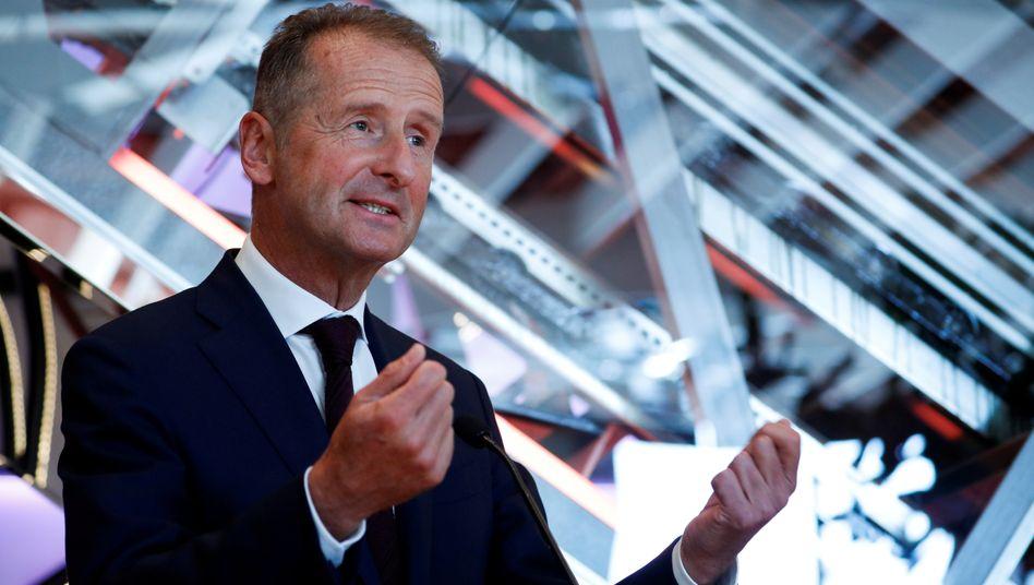 Offensiv: Volkswagen-Chef Herbert Diess