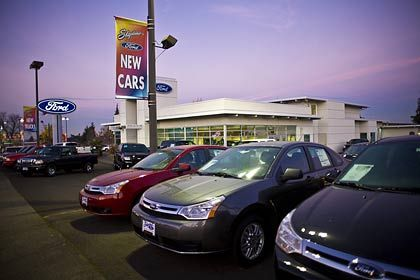 Gewinnt Marktanteile: Ford hat zwar einen leichten Absatzrückgang zu verzeichnen. Angesichts der Schwäche der anderen steht das Unternehmen relativ gut da