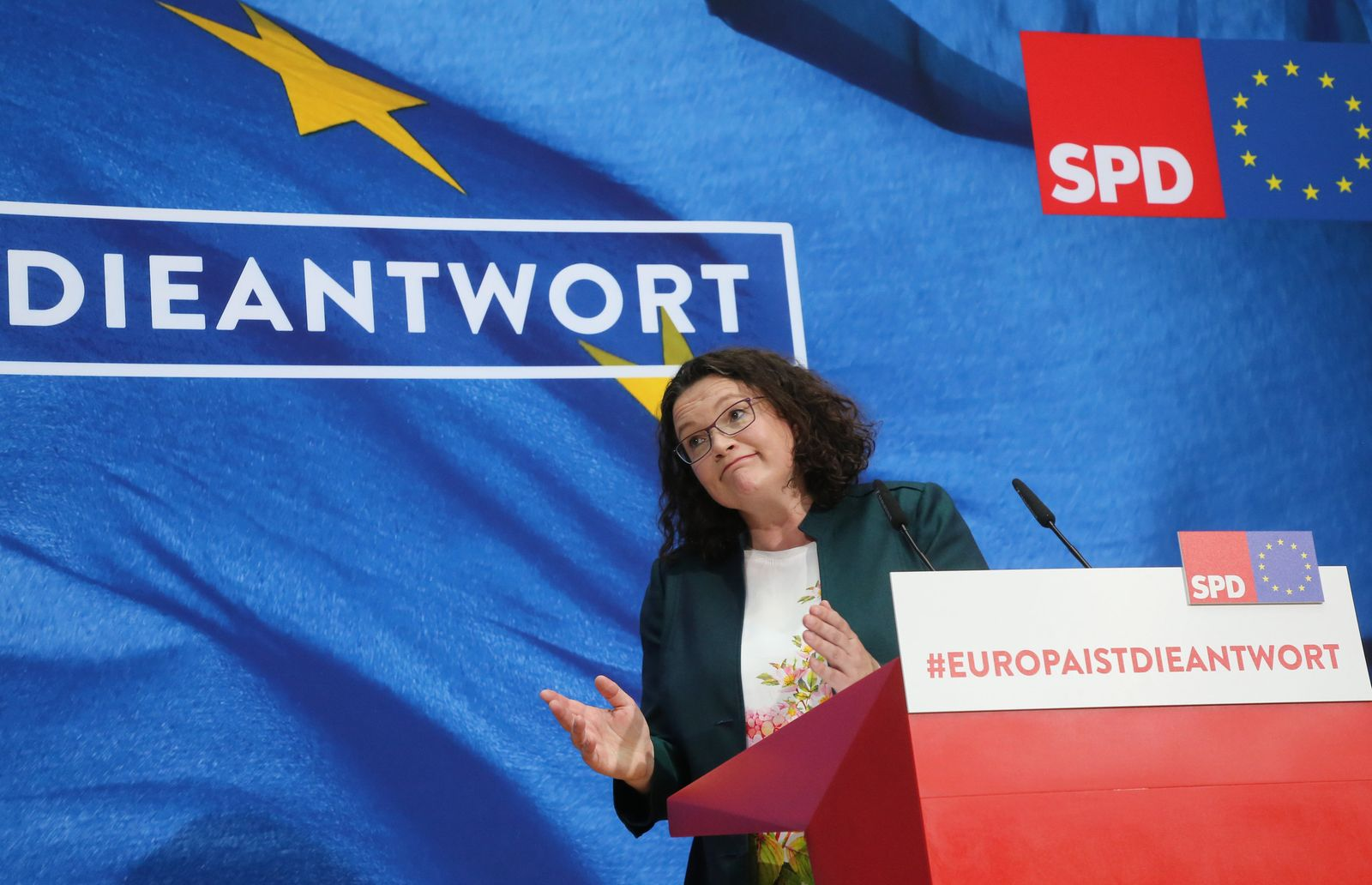 Europawahl/ Berlin SPD/ Nahles