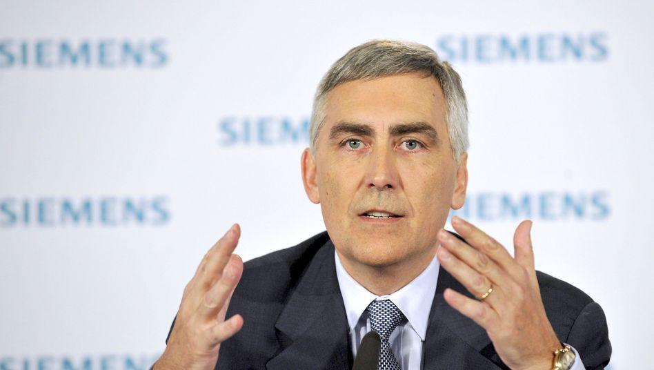 Siemens-Chef Peter Löscher: Allein die Aufträge aus Indien legten um 160 Prozent zu