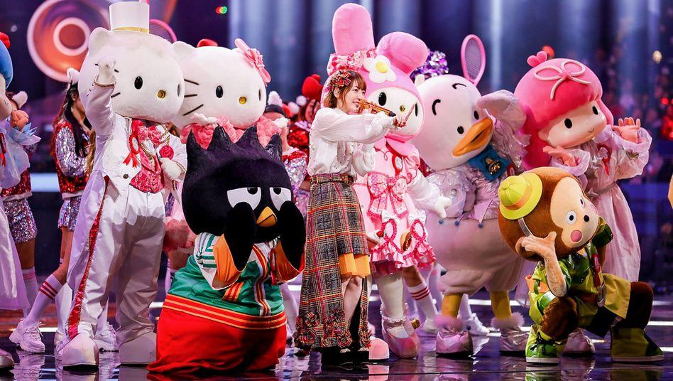 Singles' Day 2019: Die japanische Sängerin Hanazawa Kana trat bei der großen Show in Shanghai auf