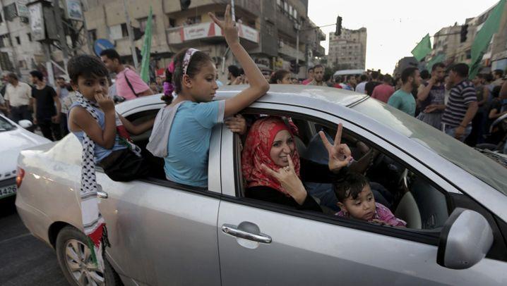 """Gaza: Palästinenser feiern """"Sieg"""""""