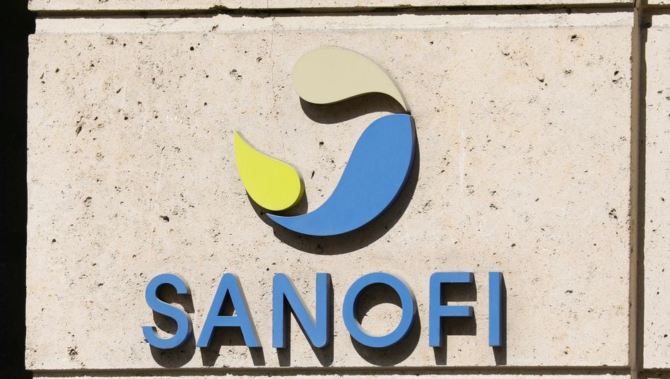 Sanofi-Logo am Hauptquartier in Paris