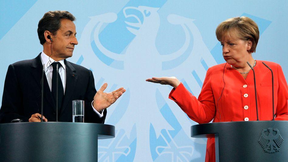 Sarkozy und Merkel: Arbeiten an einem gemeinsamen Rettungsplan für Deutschland