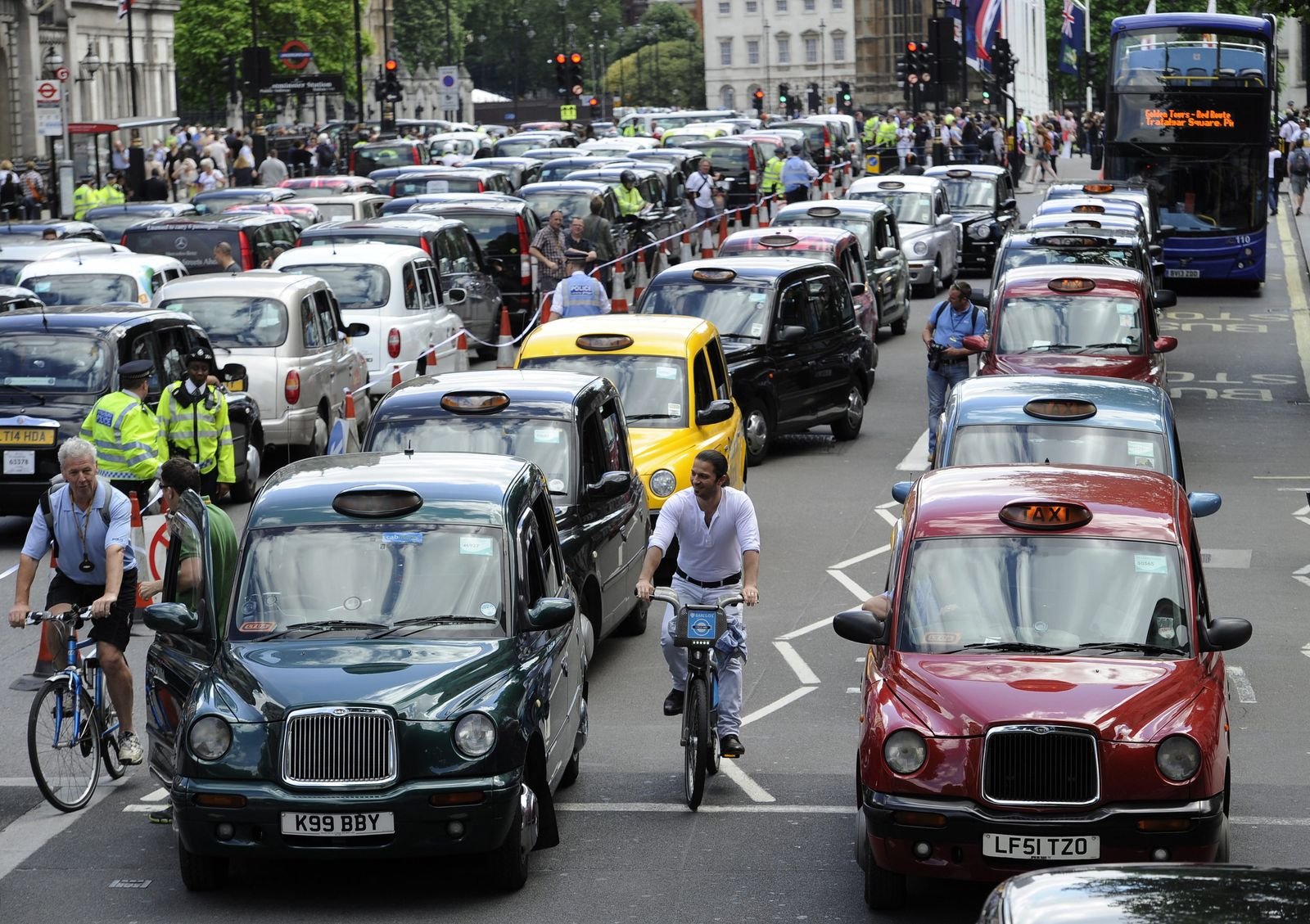 Taxi-Protest in London
