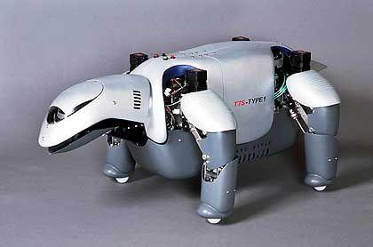Viele Probleme: Auch dieser Sanyo-Roboter schaffte es nicht bis zur Serienreife