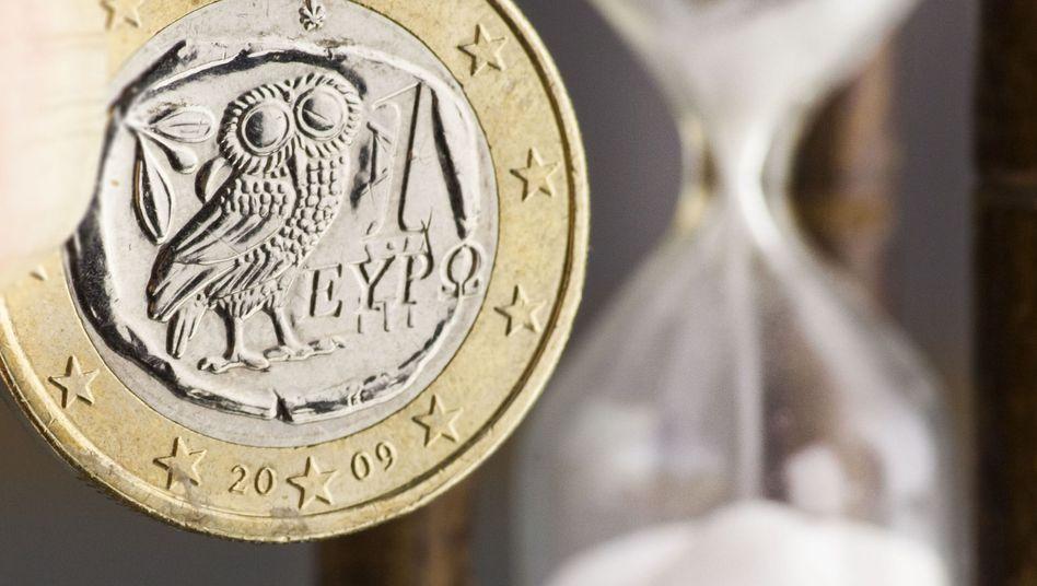 Kaum noch zu retten: Die Beteiligung privater Investoren ist eine Bedingung für das zunächst auf 130 Milliarden Euro veranschlagte zweite Rettungspaket von EU und IWF. Dabei wird ein Verzicht der Gläubiger auf rund 100 Milliarden Euro angepeilt.