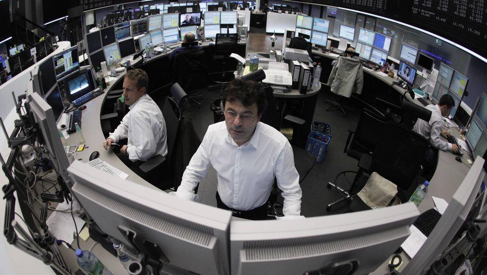 Börse in Frankfurt: Der Dax schließt minimal im Minus