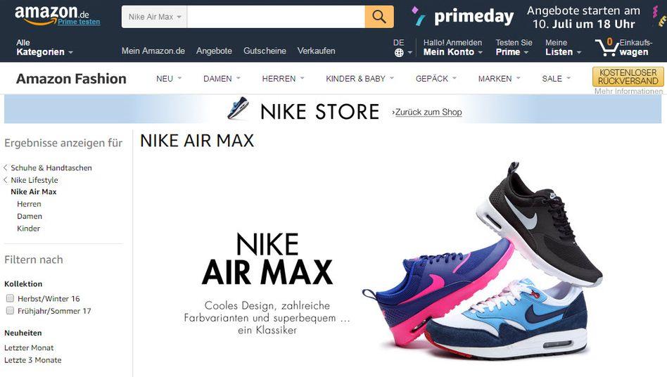 Schuhverkauf von Nike über Dritthändler bei Amazon - da ist dann nicht mal das berühmte Logo drinnen