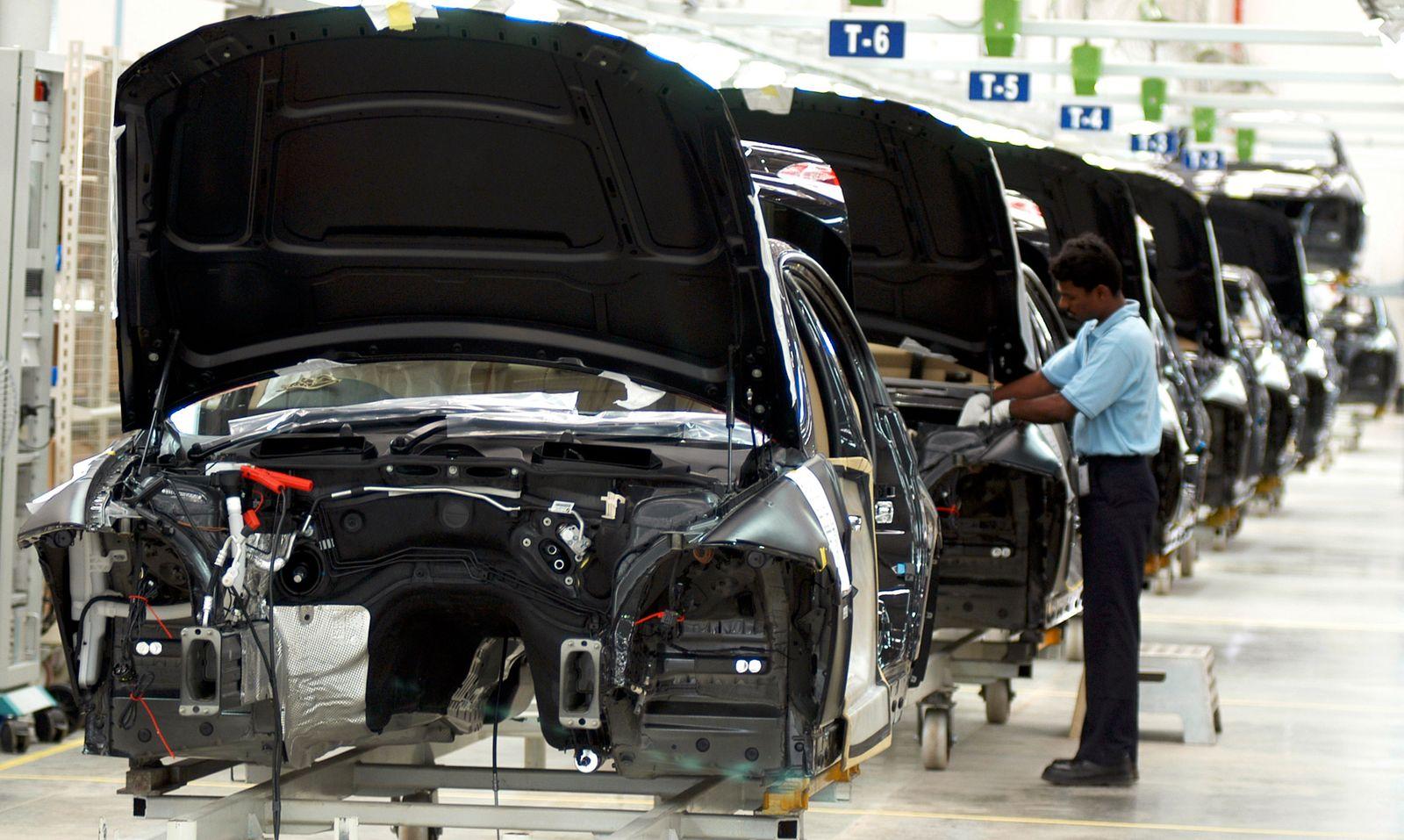 BMW-Werk in Chennai / Automarkt Indien