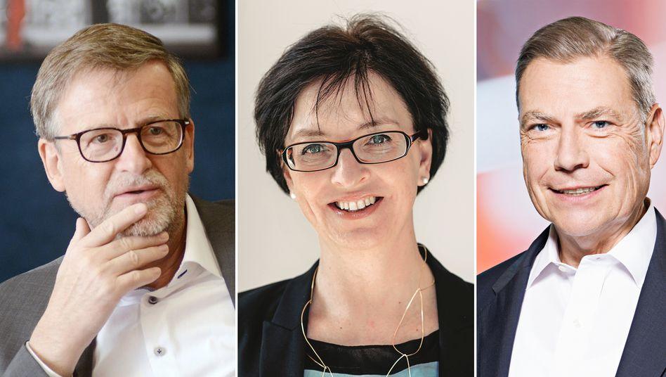 Der Ceconomy-Vorstand ist komplett: Jörn Werner (CEO), Karin Sonnenmoser (CFO), Haag Molkenteller (CLCO, Leiter Recht und Compliance)