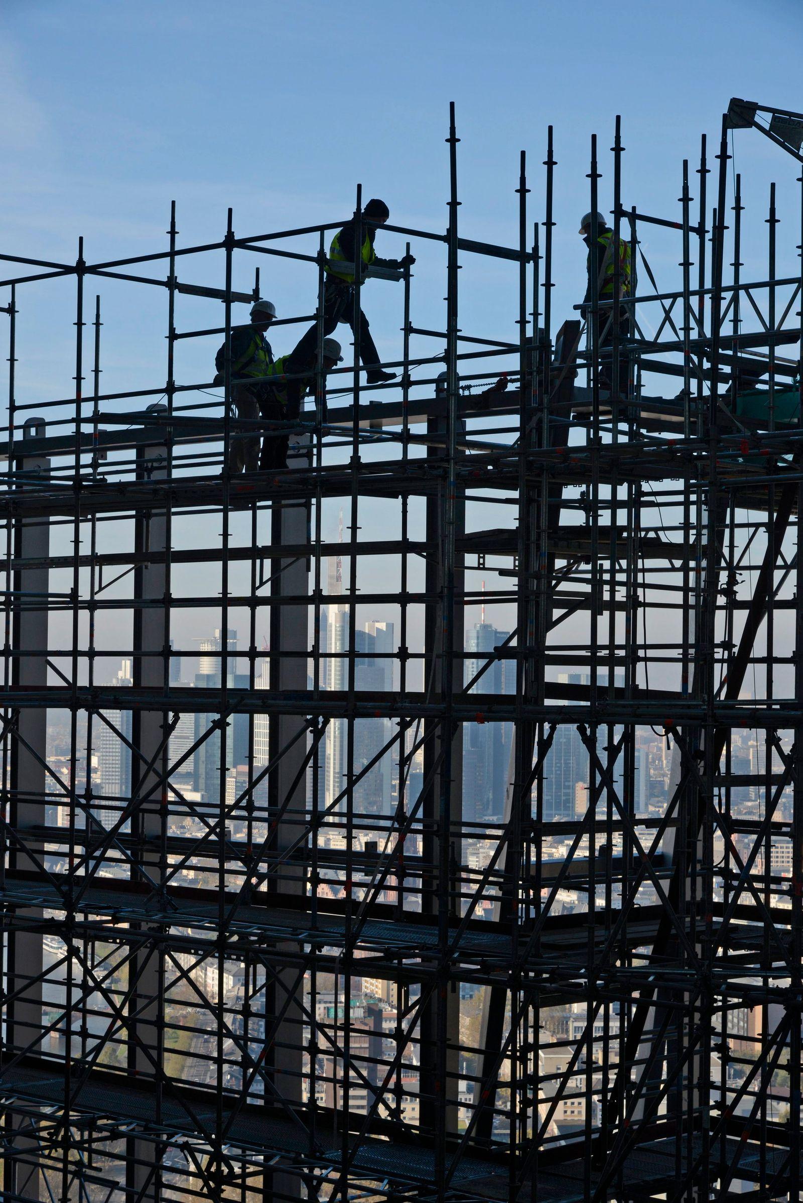 Deutschland / Konjunktur / Baustelle / Bauarbeiter / Leiharbeiter