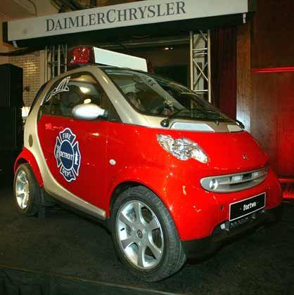 Rettungseinsätze für die Marke nötig: Smart als Feuerwehrauto