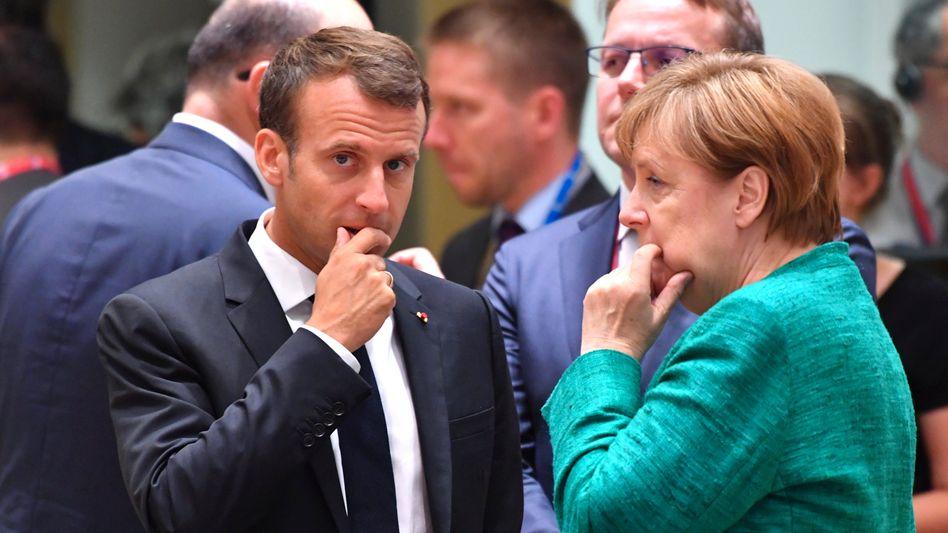 Merkel, Macron: Kompromiss nach langer Nacht