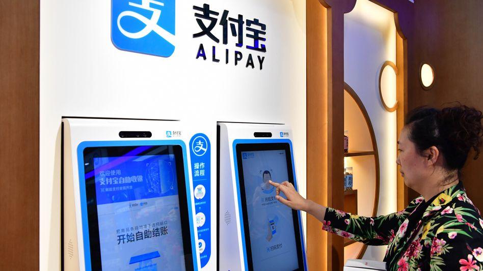 Alipay-Gesichtsscanning: Die Alibaba-Beteiligung Alipay ist Chinas führende Online-Zahlungsplattform und zählt zu den größten weltweit