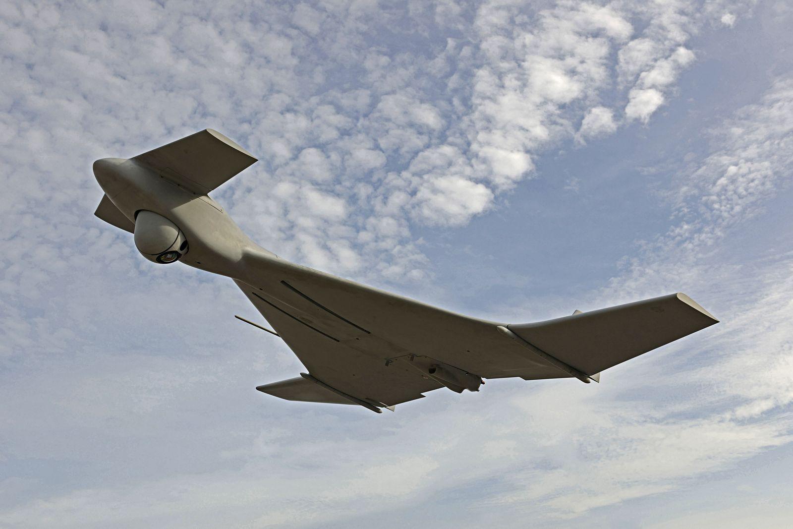Mock-up of IAI Harop UAV flying