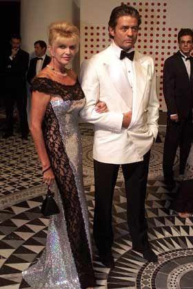 Grande Dame: Ivana Trump im Feingelochten