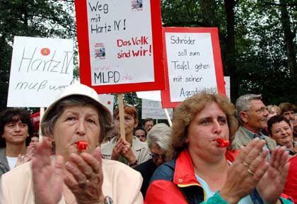 Volkszorn Ost: Anti-Hartz-Demonstranten am Wochenende in Brandenburg