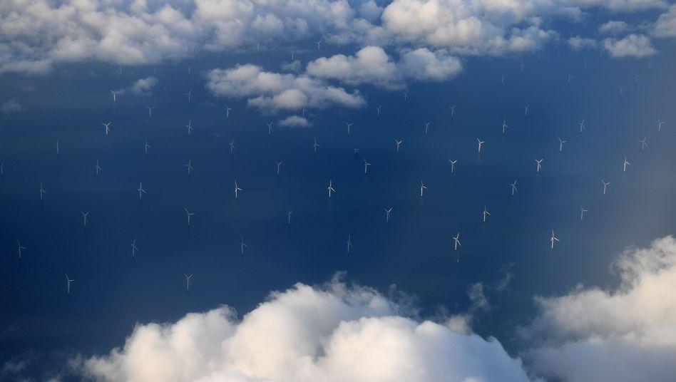 Wolken am Himmel: Windenergie-Park Burbo Bank, der zum Teil indirekt Innogy gehört.