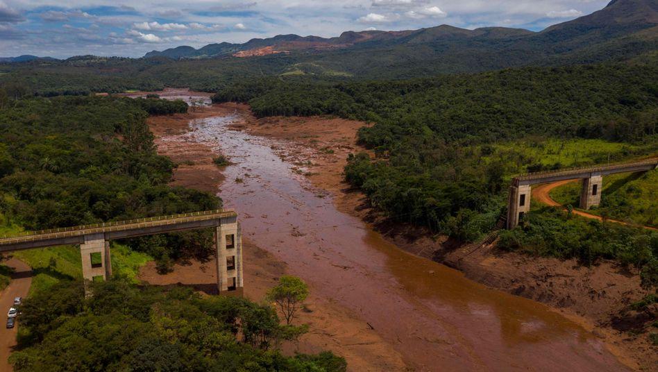 Dammbruch in der Nähe der brasilianischen Stadt Brumadinho: Bei der Überschwemmung starben mehr als 270 Menschen oder gelten seitdem als vermisst