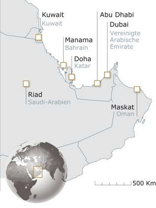 Golfstaaten: Wo die Investoren sitzen