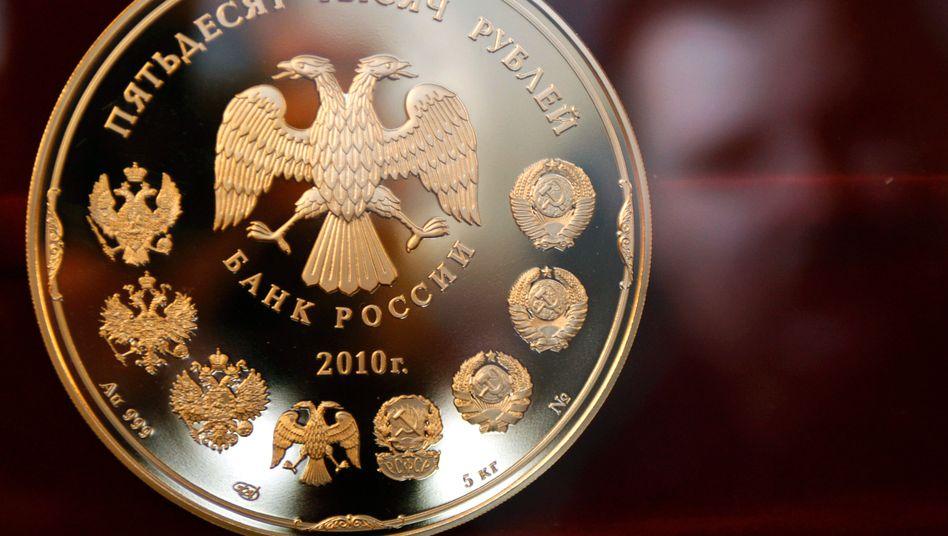 Rubel-Münze: Anleger ziehen sich aus den russischen Finanzmärkten zurück
