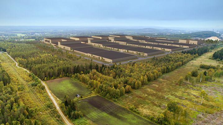 Geplante Fabrik von Northvolt in Schweden