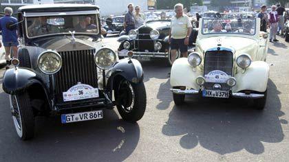 Rolls-Royce mit Mercedes-Oldtimer: Klassiker unter sich