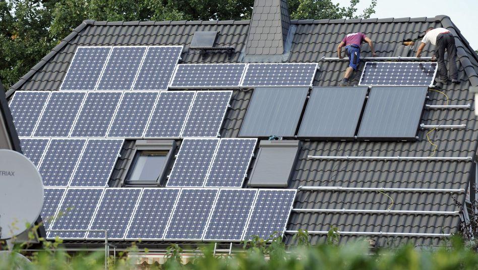 Photovoltaikanlage auf Haus in Brandenburg
