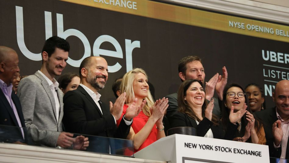 Freude bei Uber-Chef Dara Khosrowshahi und seiner Mannschaft an der New Yorker Börse - allerdings wohl kaum über den Kursverlauf.